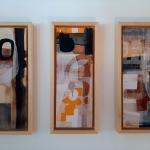 3 panels on wood